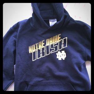 Notre Dame hoodie worn once